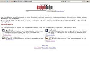Tampilan Wayback Machine