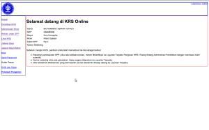 Halaman status KRS online