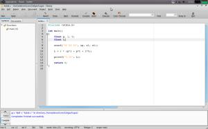 Tampilan Geany pada Ubuntu 9.04